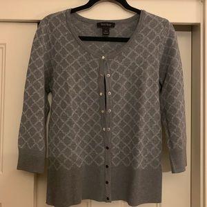 Gray Sparkle Designed Cardigan